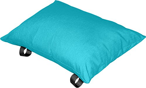 "Vivere Polyester Hammock Pillow, True Turquoise - Fade resistant fabric Spun polyester fill 14"" x 20"" size - patio, outdoor-throw-pillows, outdoor-decor - 41JeTx93rHL -"