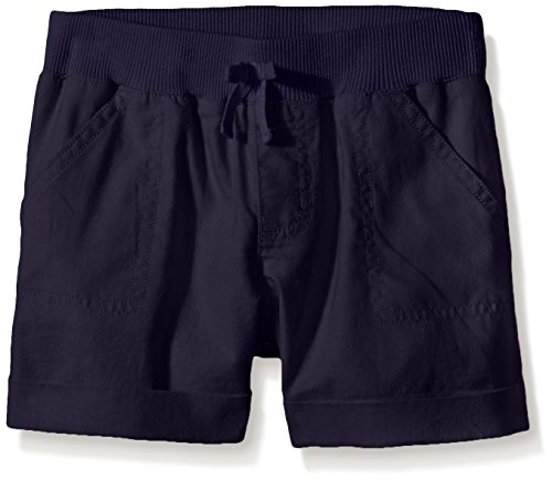 Gymboree Little Girls' Linen Short, Navy, - Girls Linen Shorts