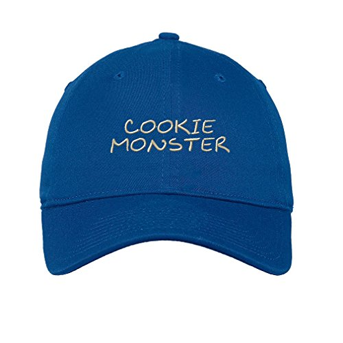 (Speedy Pros Cookie Monster Twill Cotton 6 Panel Low Profile Hat Royal)