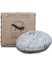 Shampoo Sólido para Nutrir el Cabello | Chabacano-Arandano-Lavanda | Equivale a 435 ml shampoo | Libre de plásticos | Fragancia Natural Lavanda Frutal | [Ajolote Negro 80 g ]