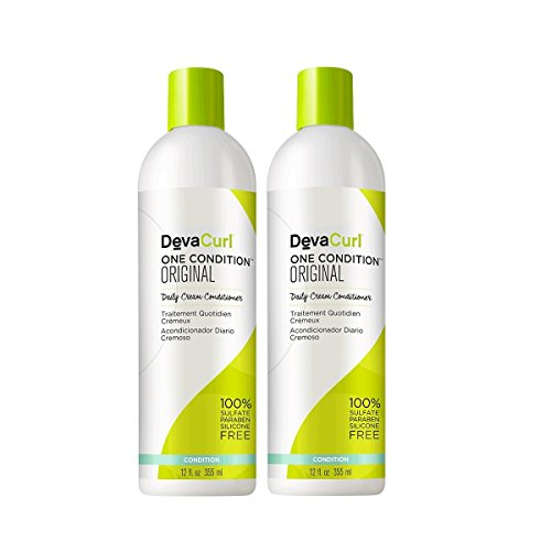 DevaCurl One Condition Original; Cream Hair Conditioner; Sulfate; Paraben and Silicone Free; Detangle; Control Frizz and Hydrate; 12 Ounce; 2-Pack