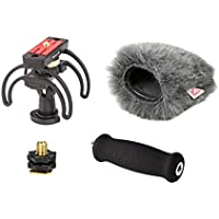Rycote Audio Kit for Zoom H5 Portable Recorder, Includes Suspension, Soft Grip Extension Handle, Hot Shoe 3/8 Adaptor, Mini Windjammer