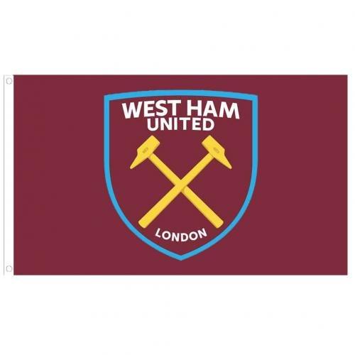 West Ham United Fc Authentic EPL Crest Flag