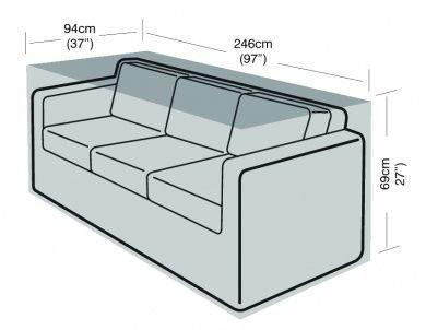 3 Seater Large Sofa Cover Furniture Polyethylene Green Garland