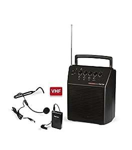 Fonestar ASH-25 Alámbrico Negro - Amplificador de audio (600 Ω, 20 W, 100 - 15000 Hz, 220 mm, 145 mm, 270 mm)