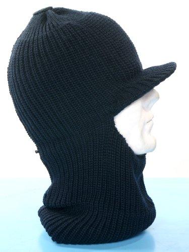 Fratelliditalia Passamontagna cappello neve in lana con visiera colori  verde mimetico blu eb6186719a11