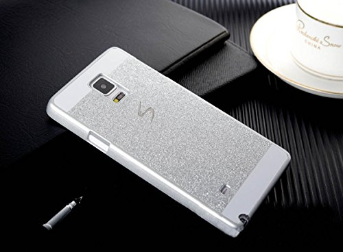 Top selling TM Samsung Galaxy Note 4 Case,Top Selling(TM) Luxury Bling Diamond with Crystal Rhinestone Vibrant Trendy Color Slider Style Hard pc Case for Samsung Galaxy Note 4 + Bonus Top Selling Logo Stylus (Sliver, samsung galaxy note 4 N9100)
