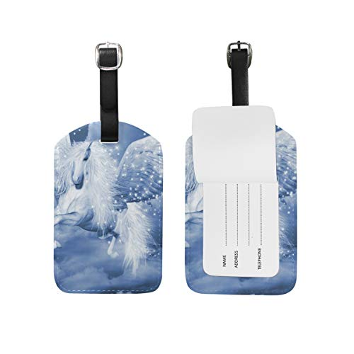 Angel Wing Horse Luggage Tags USA Travel Air Label Card (2PCS)