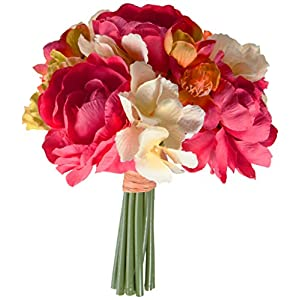 Vickerman FQ172601 Cerise Green/Orange Gerbera/Poppy Floral Bush 111