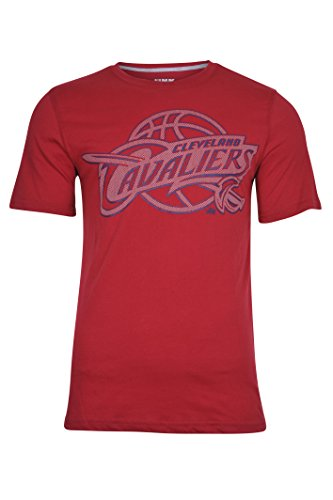 (NBA Cleveland Cavaliers Men's T-Shirt Brushed Reflective Logo Tee Shirt, Medium, Wine )