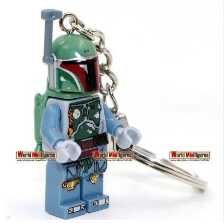 Keychain Green Boba Fett Star War 7 The Force Awakens Bounty Hunter Minifigure (Without Box ) (Iron Man Cosplay Armor)