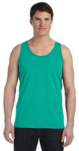 Bella + Canvas Unisex Jersey Tank, Medium, TEAL