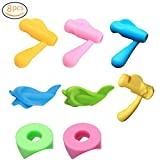 Pencil Grips,XQFI Kids Silicone Handwriting Correction Device Pencil Grips for Kids Handwriting Tracing Fish Dolphin Writing Training Grip Holder Pen Claw Aid Finger Grip for Kids Preschooler