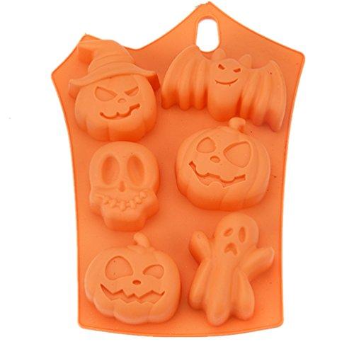Joyi Silicone Halloween Chocolate Candy Soap Molds Cake Mould Baking Molds Random Color