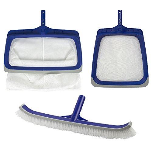 Poolmaster Deluxe Heavy Duty Vinyl Liner Swimming Pool Maintenance Cleaning Kit, Blue/White