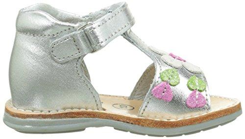 Minibel Kelly - Zapatos de primeros pasos Bebé-Niños Plateado - Argent (70 Argent)