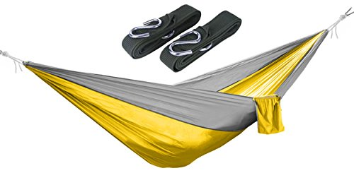 BalanceFrom Lightweight Portable Nylon Parachute Hammock wit