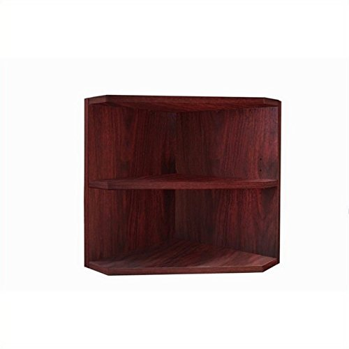 Mayline MNPOLMH Medina Corner Support for Hutch Cabinet, (Qty. 1), Requires 2 supports for Hutch, sold separately, Mahogany Laminate by Mayline Group