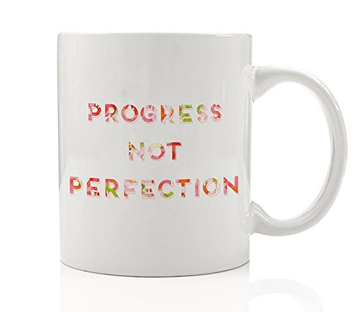 progress not perfection coffee mug gift idea inspiration to keep moving forward give your best achieve - What To Give Your Best Friend For Christmas