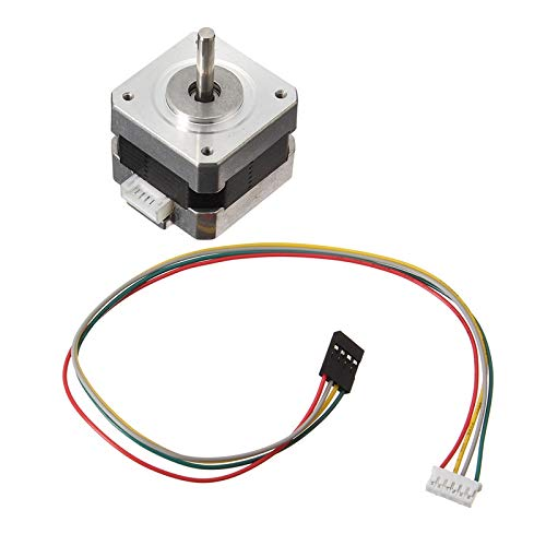 HUDITOOLS Quality | Stepper Motor | Nema 17 Stepper Motor Bipolar 4 Leads 34mm 12V 1.5 A 26Ncm(36.8oz.in) 3D Printer Motor 42SHD0001 Hot 1 PCs ()