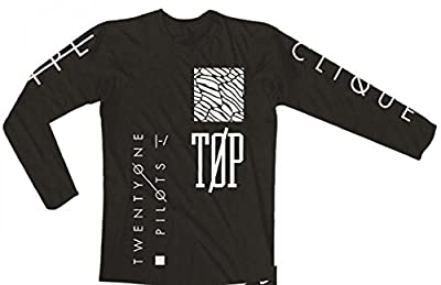 Twenty One Pilots Emblem Long Sleeve Slim Fit T-Shirt Black