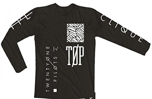 Twenty One Pilots Emblem Long Sleeve Slim Fit T-Shirt Black (Medium)