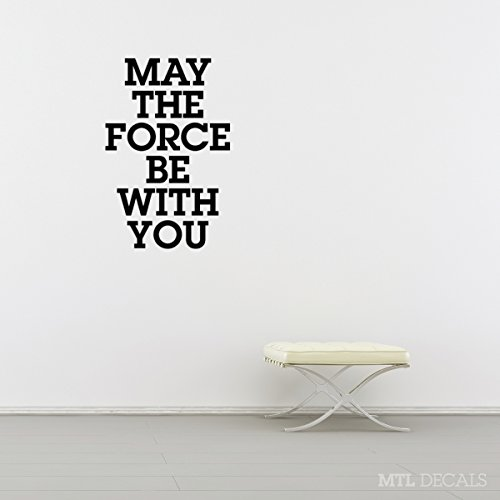 May The Force Be With You Wall Decal, Star Wars Wall Vinyl Sticker, Home Wall Decor