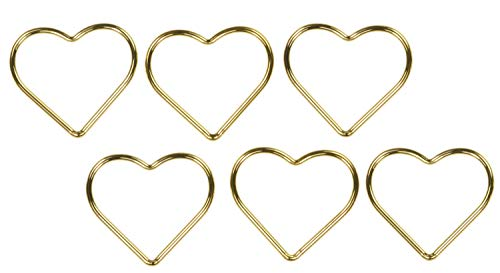 6 14K Gold Filled 10mm Heart Jump Rings Closed