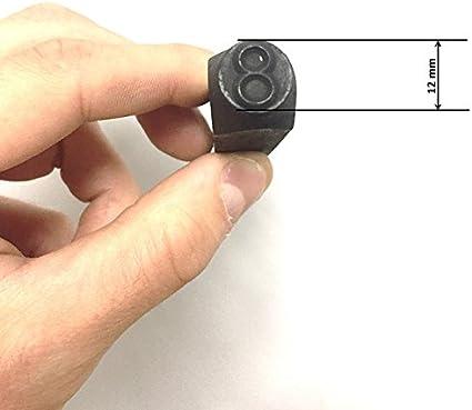 HRB 9 tlg verschiedene Gr/ö/ßen 2-12 mm Schlagzahlen Satz Schlagzahlen 2mm Zahlenstempel