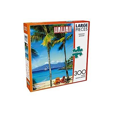 Buffalo Games - Hawaiian Getaway - 300 Large Piece Jigsaw Puzzle: Toys & Games