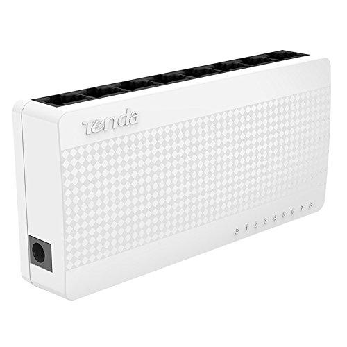 Tenda 8 Port Fast Ethernet Unmanaged Switch,10/100Mbps Desktop Ethernet Splitter, Ethernet Hub, Plug Play(S108)