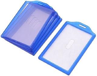 DealMux 5pcs plastica blu Telaio Scuola verticale Lavoro Slide ID Card Holder 84 millimetri x 52mm
