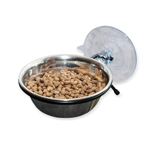 K&H Pet Products EZ Mount Up & Away Kitty Diner 12oz. Stainless/Black Mounts to (Single Bowl Mount)