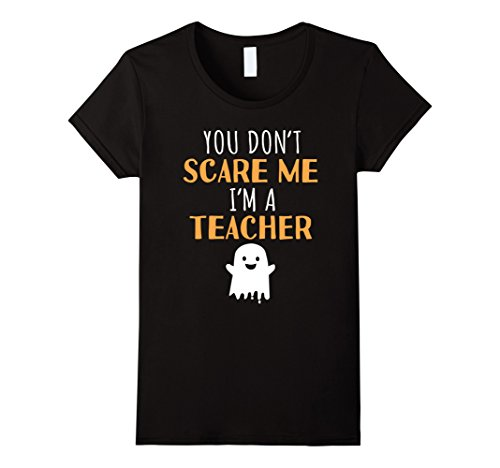 Womens Funny Teachers Halloween T Shirt Cute Halloween Gift XL Black