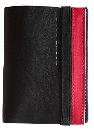 fb19979551 rosso rosso Pelle In Pole Nero Portatessere Vera North nero FUnqO