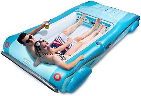 Hoovy Giant Convertible Car Inflatable Pool Float 105x59x19.5 Pool Float Ride On Convertible Car Inflatable Float Fun Beach Floaties Party Toys Summer Pool Raft Lounge for Adults & Kids