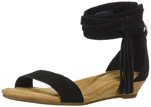 Koolaburra by UGG Women's W Saige Wedge Sandal, Black, 08 Medium US (Ugg Women Wedge Boots)