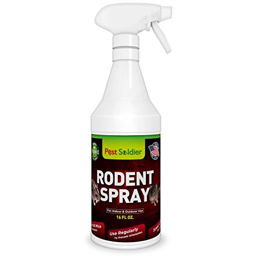 Mice Repellent - Humane Mouse Trap Substitute - 16 oz Organic Spray - Guaranteed Effective - Works For All Types of Mice & Rats By Pest Soldier