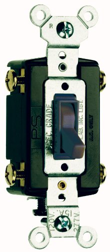 Legrand-Pass & Seymour 664GCC8 Four Way Toggle Switch Grounding 15-Amp 120-volt (Pass & Seymour 4 Way)