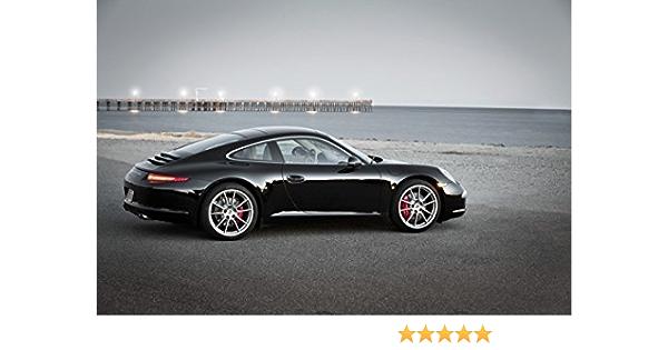 White Porsche Front Side View CARS5125 Art Print Poster A4 A3 A2 A1