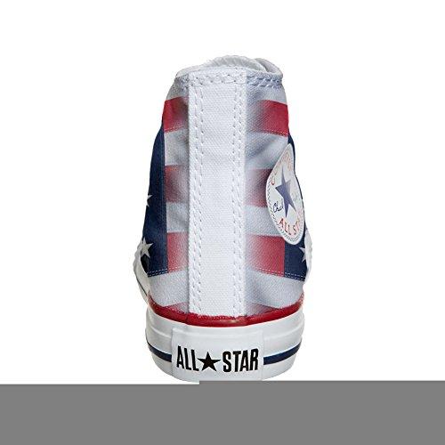 Converse Customized Chaussures Coutume (produit artisanal) avec drapeau américain (USA)