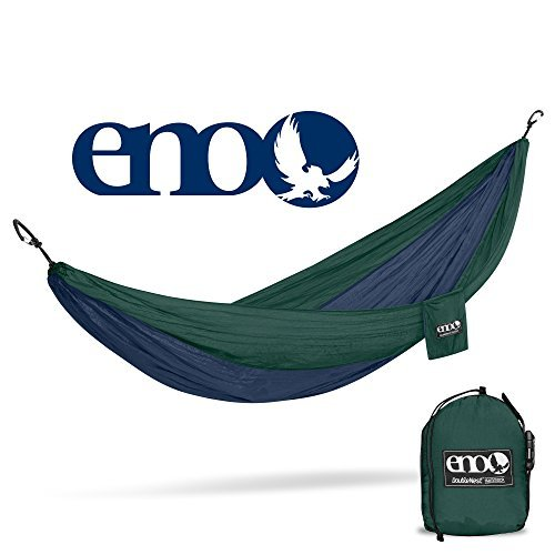 (ENO - Eagles Nest Outfitters DoubleNest Hammock, Portable Hammock for Two, Navy/Forest)