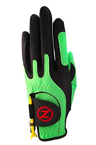 Zero Friction Junior Golf Gloves, Left Hand, One Size Golf, Lime Green