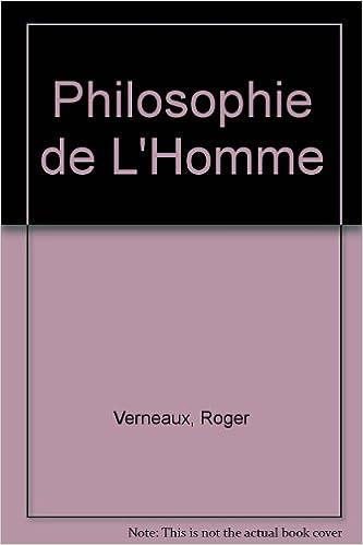 Book Philosophie de L'Homme