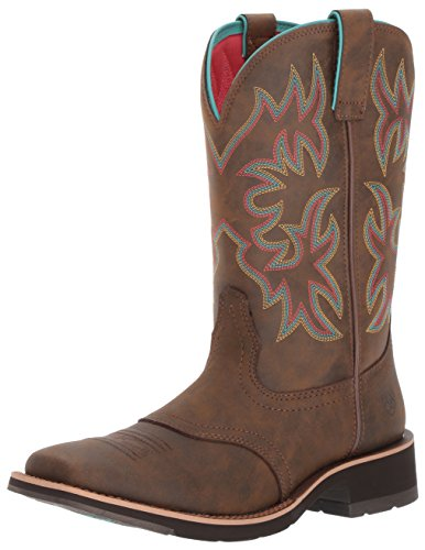 Ariat Women's Delilah Work Boot, Toasted Brown, 7 B US