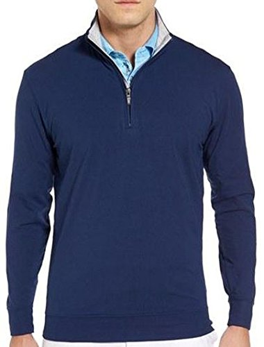 Bobby Jones Men's Solid Liquid Cotton Long Sleeve Quarter-Zip Pullover, Summer Navy, XXL by Bobby Jones