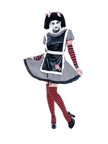 Womens Paper Doll Costume (Paper Magic Group Gothic Ragdoll - Large 10-12)
