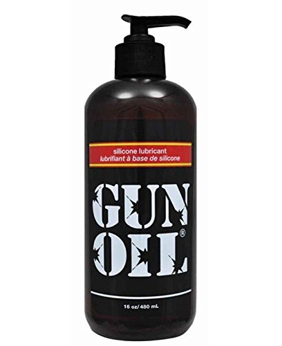 Gun Oil Premium Silicone Based Personal Lube Lubricant Fortied with Special Botanicals Safe for Toys. (+ Free Lubricant) : Net Wt 16 Oz