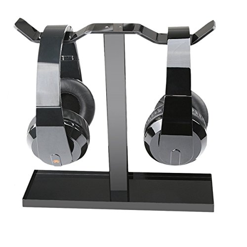 - Headphone Stand, MOCREO Acrylic Dual Balance Headset Stand Gaming Headphone Holder/Mount/Hanger, Desktop Headset Holder/Mount/Hanger, Extra Thick