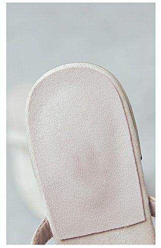 Zapatillas Mujer Vestir Salvaje de del 37 de de Femenino Moda Perezoso Dedo Sandalias DIDIDD Pie Albaricoque Rq0wCR